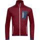 """Ortovox M's Fleece Jacket Dark Blood"""